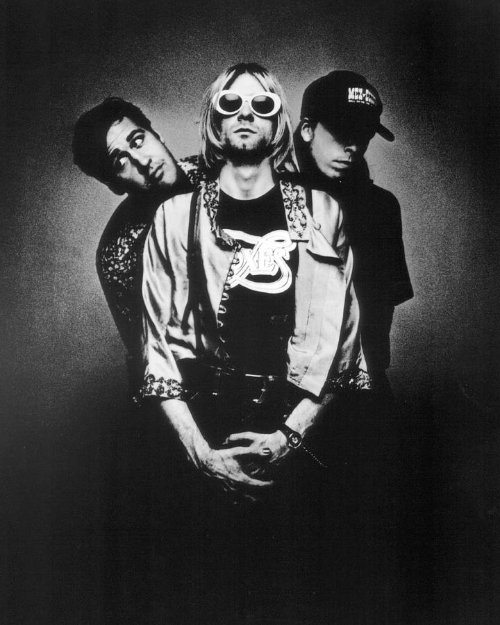 Retro Images Archive Photograph - Nirvana Band by Retro Images Archive
