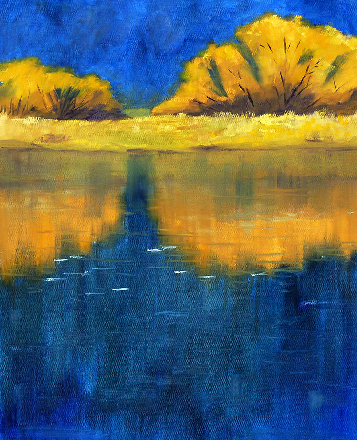 Oil Painting Painting - Nisqually Reflection by Nancy Merkle