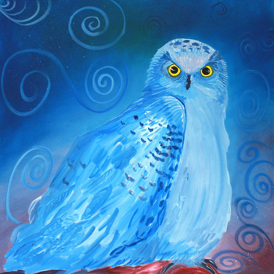 Owl Painting - Nite Owl by Amy Reisland-Speer