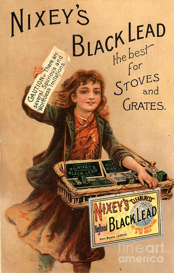 1890s Drawing - Nixey�s 1890s Uk Black Lead  Products by The Advertising Archives