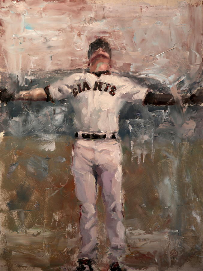 Sf Giants Painting - Nlcs Rain by Darren Kerr