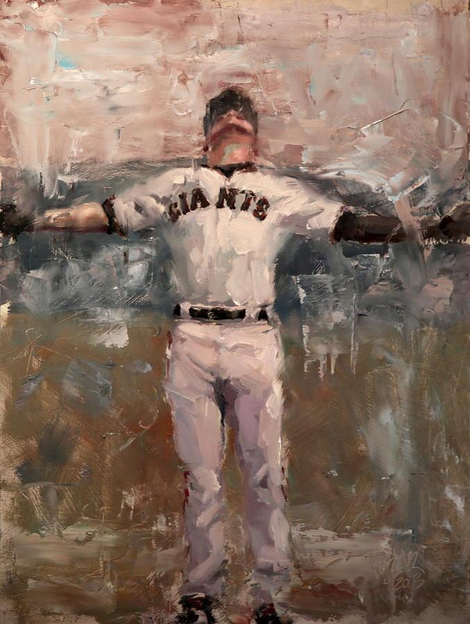 Sf Giants Painting - NLCS Rain by Darren Kerr
