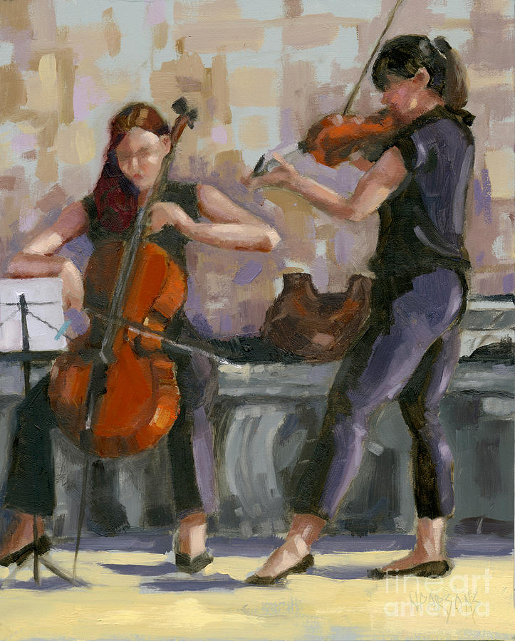 SOLD No. 1 Trio in Triptych by Nancy  Parsons