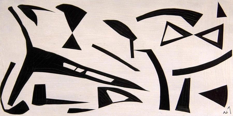 Abstract Drawing - No. 393 by Vijayan Kannampilly