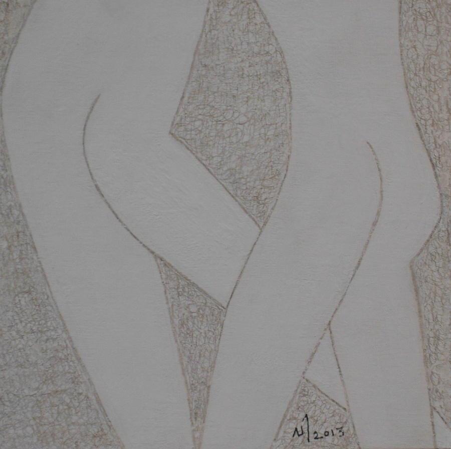 Human Figures Drawing - No. 399 by Vijayan Kannampilly