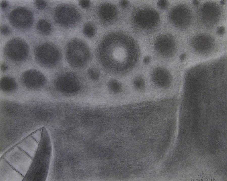Landscape Drawing - No. 401 by Vijayan Kannampilly