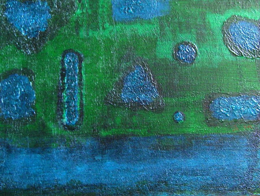 Abstract Painting - No. 404 by Vijayan Kannampilly