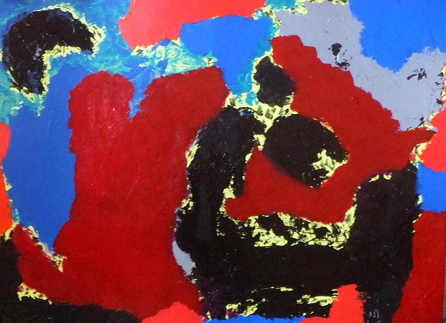Abstract Painting - No. 422 by Vijayan Kannampilly