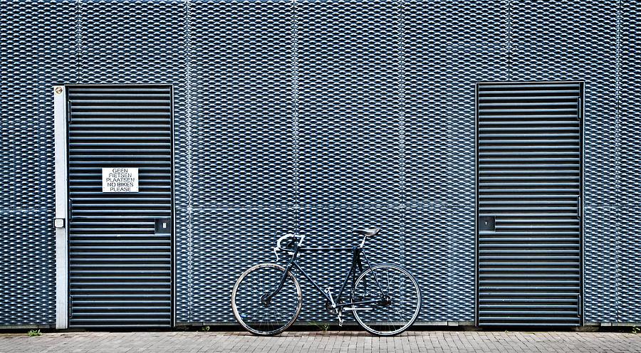 Bike Photograph - No Bikes Please by Linda Wride