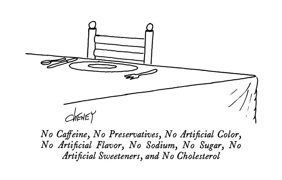 No Caffeine Drawing by Tom Cheney