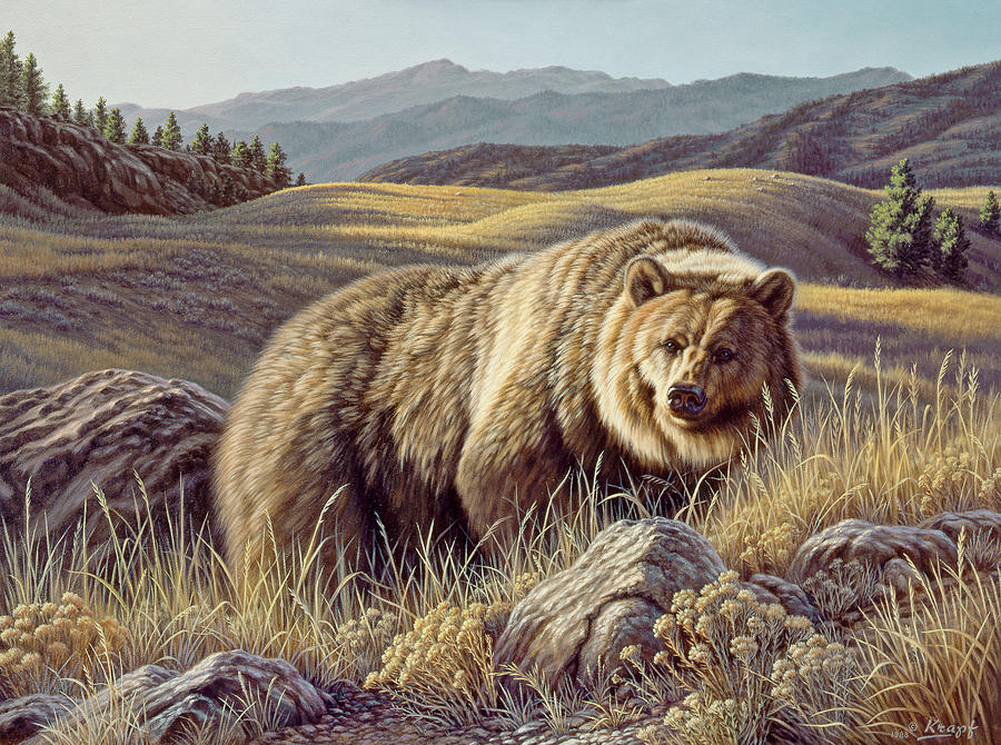 Wildlife Painting - No Contest by Paul Krapf