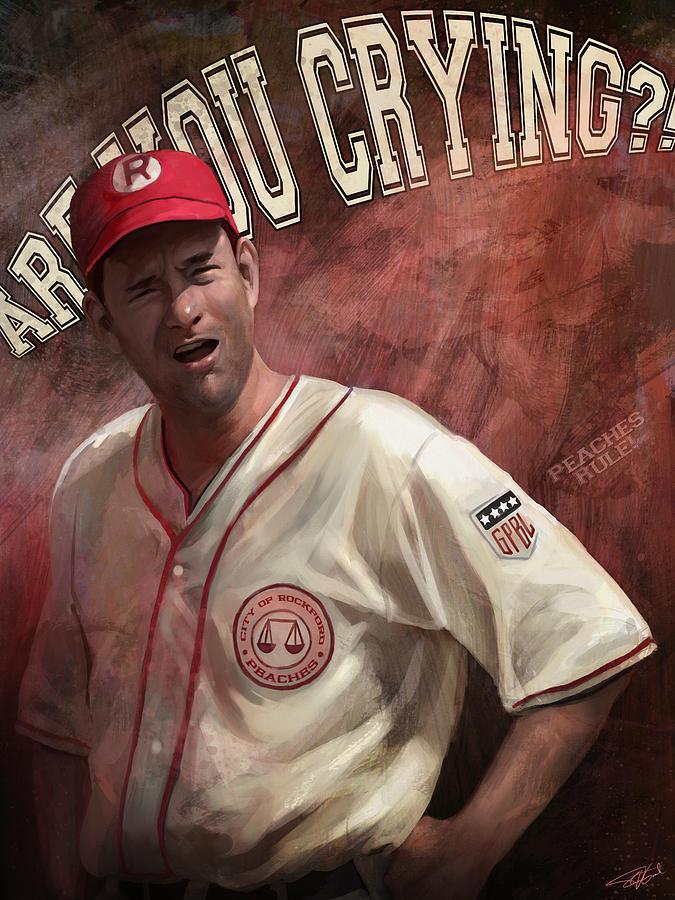 Dugan Digital Art - No Crying In Baseball by Steve Goad