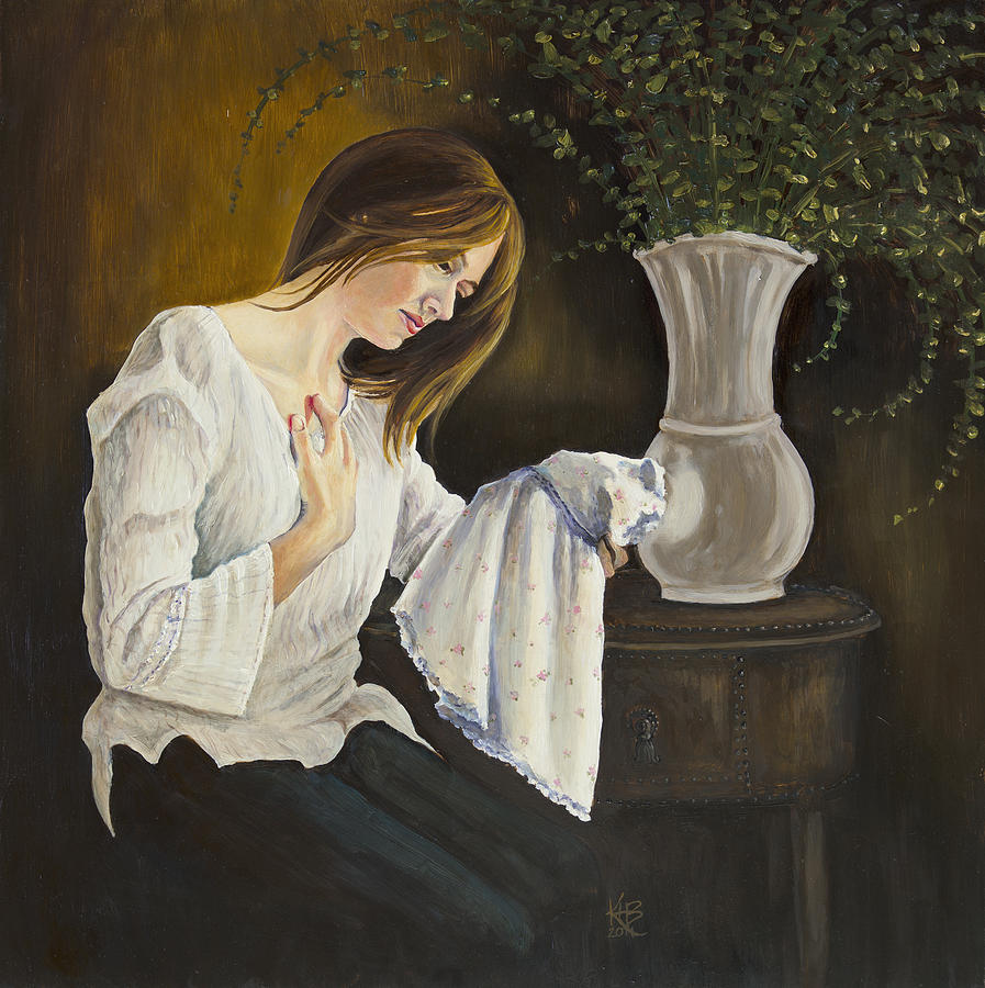 Portrait Painting - No Daughter by Kirsten Beitler