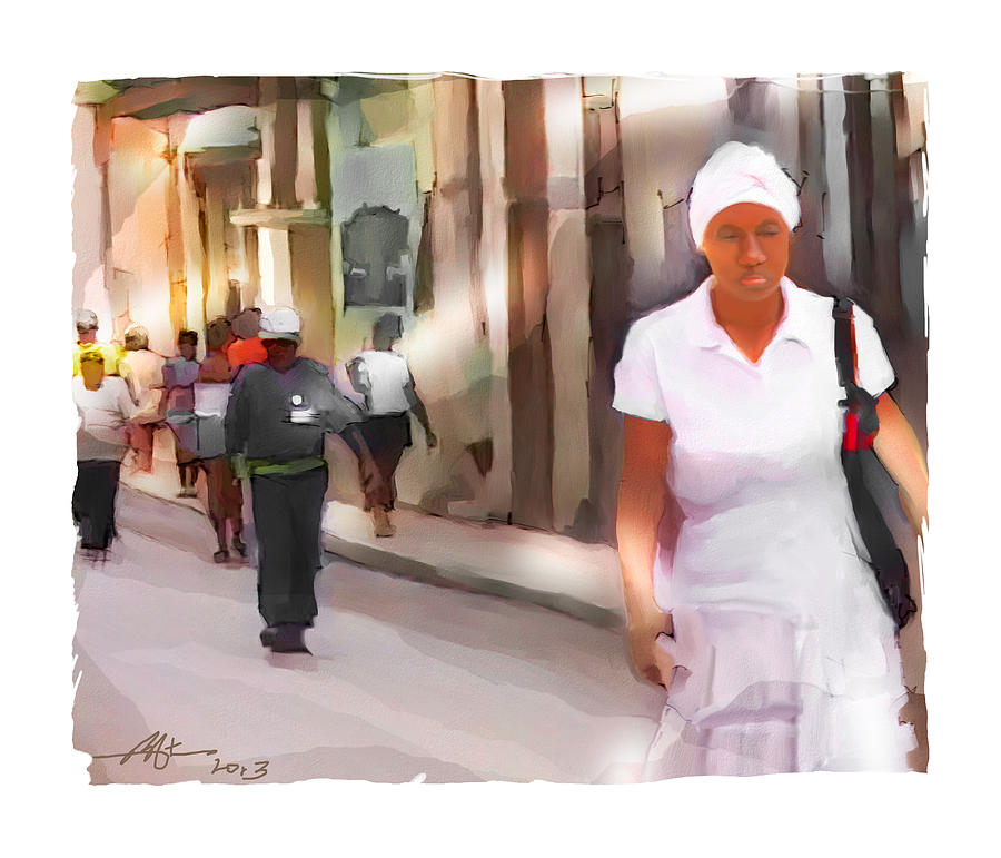 People Painting - No Direction by Bob Salo