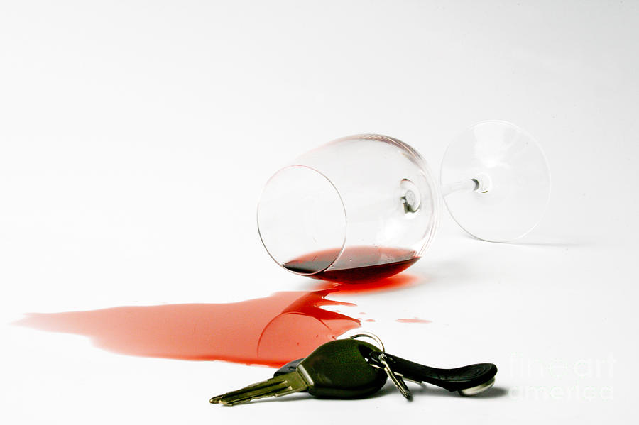 Wine Photograph - No Drunk Driving by Patricia Hofmeester