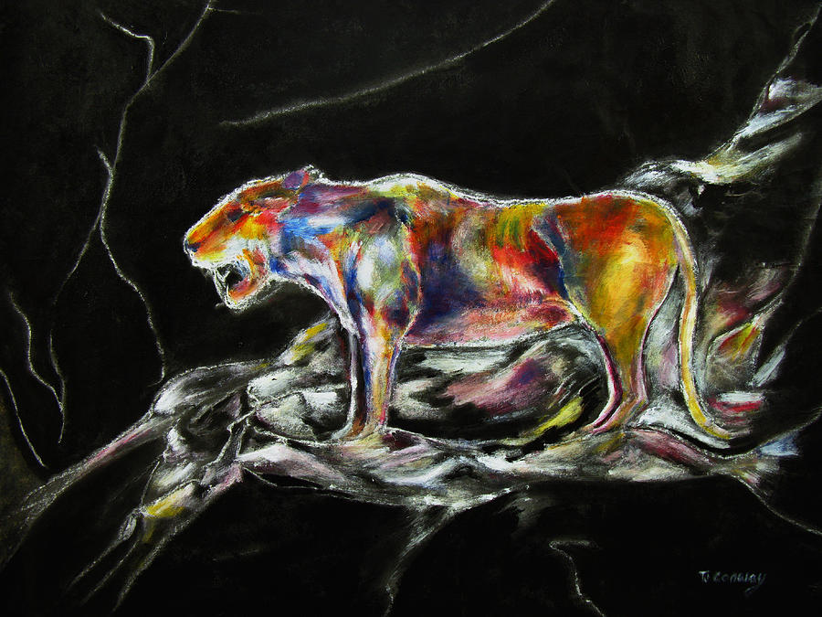 Animals Painting - No Fear by Tom Conway