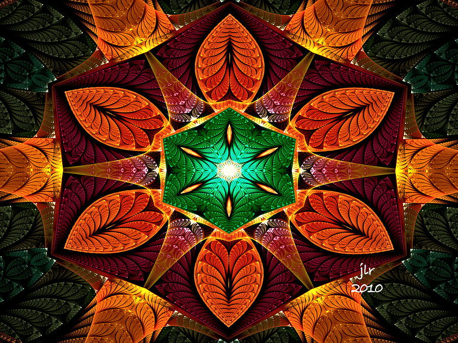 Fractal Digital Art - No Fly Zone by Janet Russell