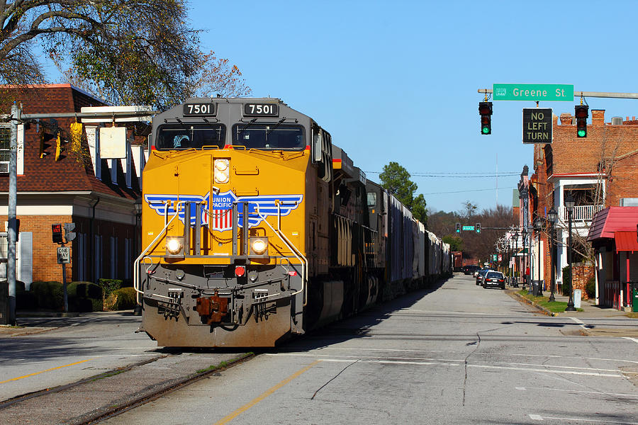 Union Pacific Photograph - No Left Turn by Joseph C Hinson Photography