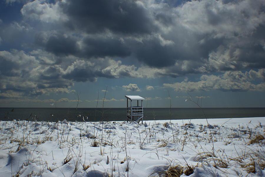 Lifeguard Stand Photograph - No Lifeguard On Duty by Amazing Jules
