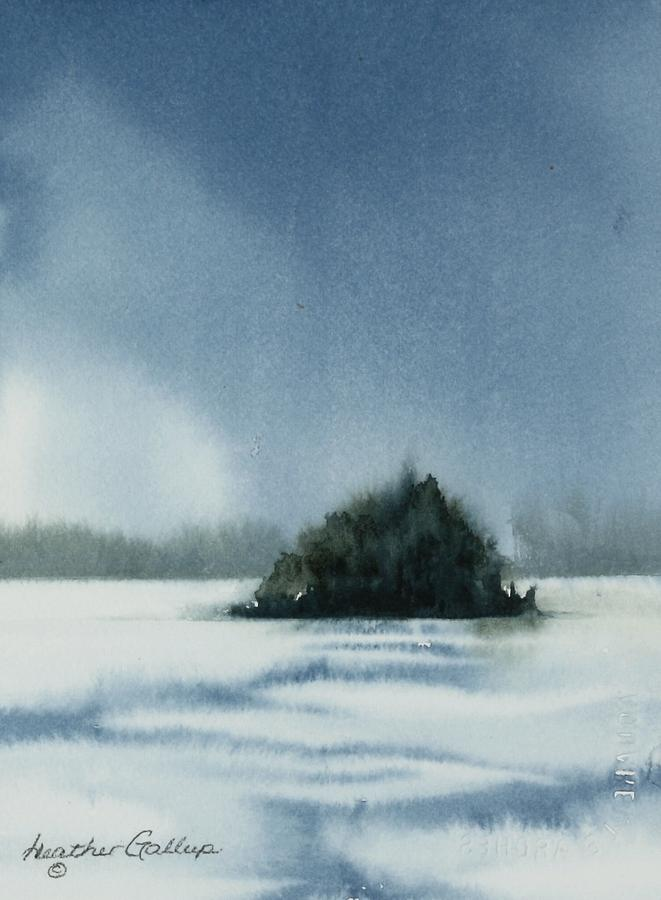 Island Painting - No Man Is An Island by Heather Gallup