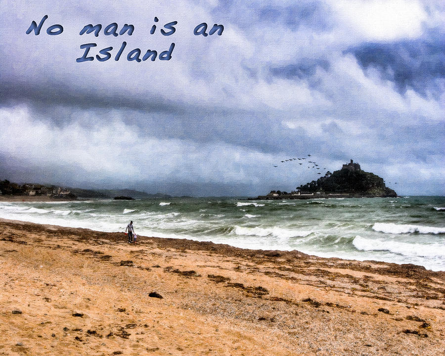 Image result for no man is an island, art