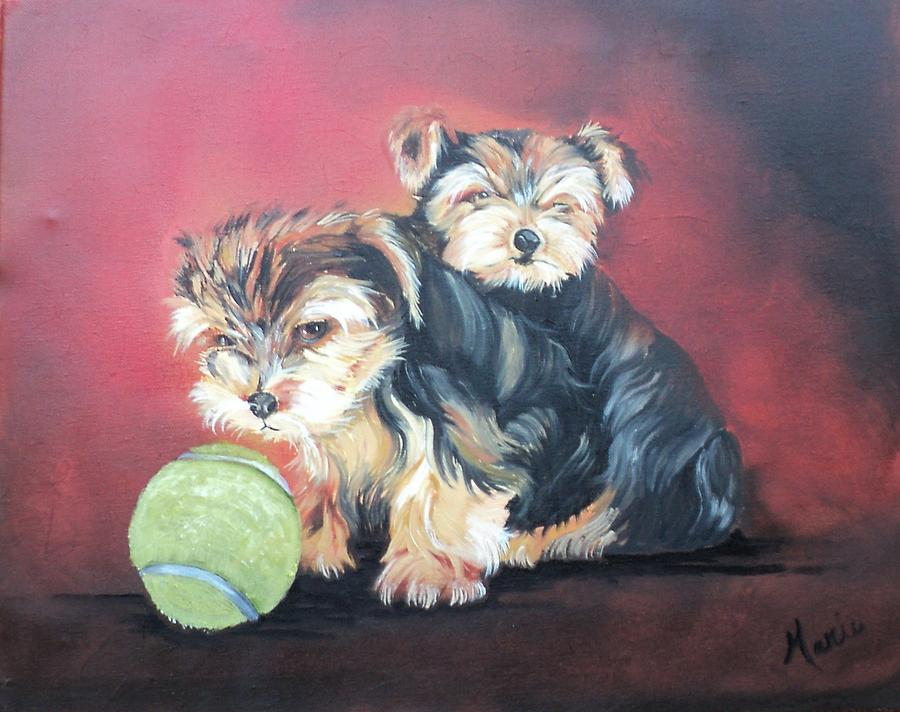 Dogs Painting - NO by Marie Maclean