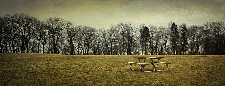 Picnic Table Photograph - No More Picnics by Scott Norris