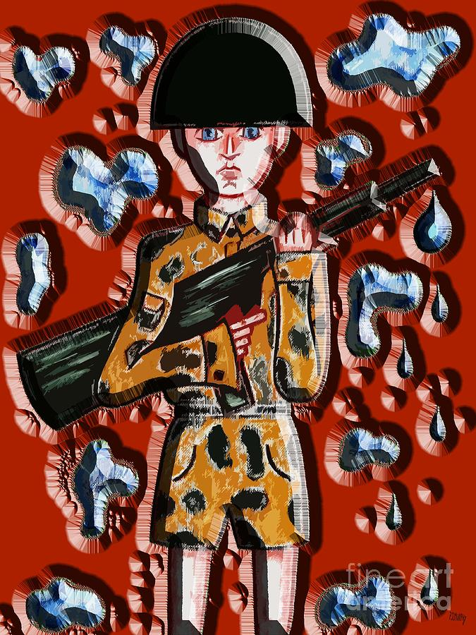 Guns Painting - No More War by Patrick J Murphy