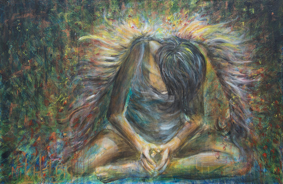 Angel Painting - No Paradise by Nik Helbig