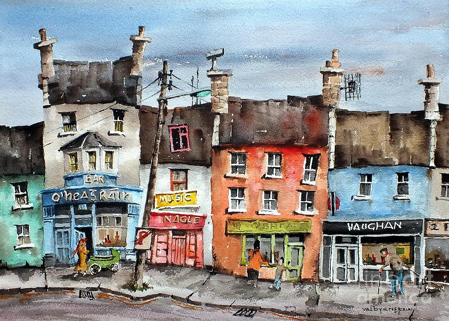 Ireland Painting -  No Parking In Co Clare, Ireland by Val Byrne