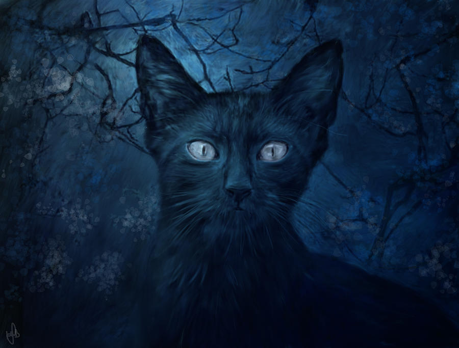 Feline Digital Art - No Place For Scaredy Cats by Hazel Billingsley