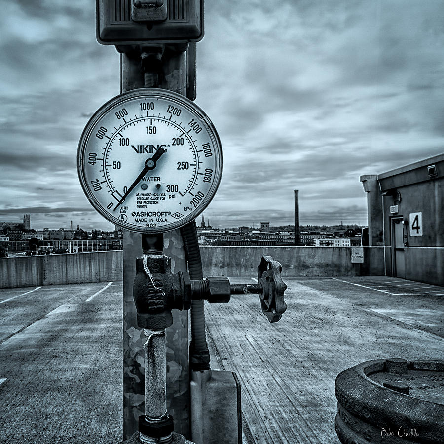 Valve Photograph - No Pressure Or The Valve At The Top Of The City  by Bob Orsillo