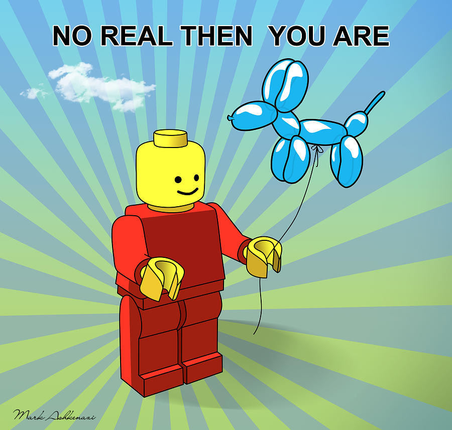 Lego Digital Art - No Real Then You Are by Mark Ashkenazi