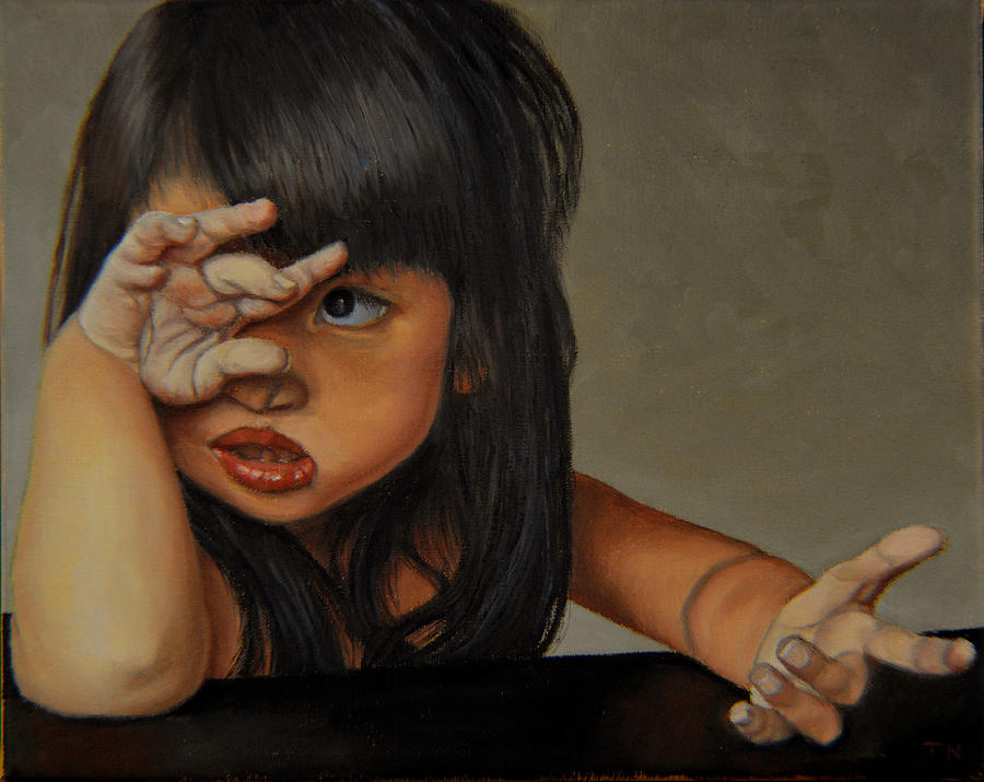Portrait Painting - No by Thu Nguyen