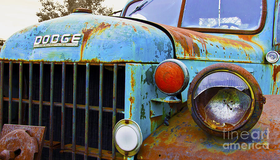 Dodge Trucks Photograph - No Time For Repairs by John Debar
