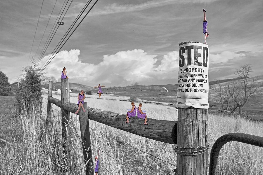 Trespassing Digital Art - No Trespassing by Betsy Knapp