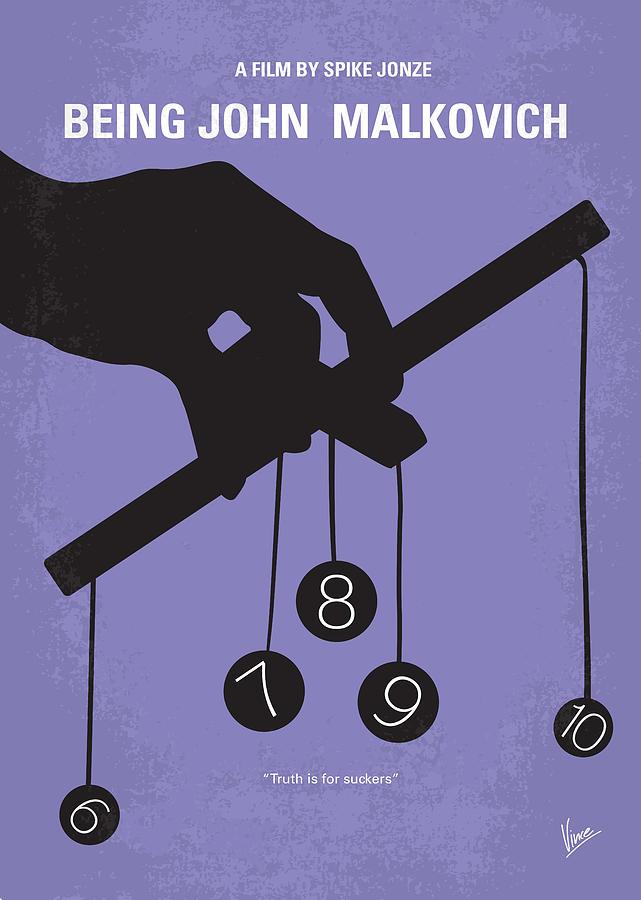 Being Digital Art - No009 My Being John Malkovich Minimal Movie Poster by Chungkong Art