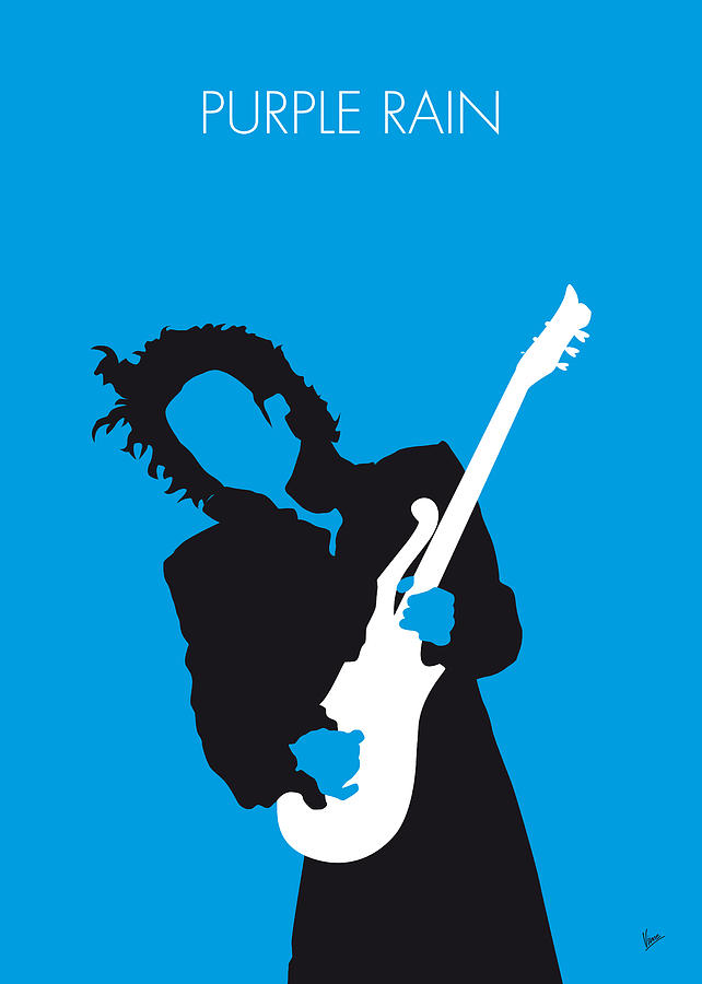 Prince Digital Art - No009 My Prince Minimal Music Poster by Chungkong Art