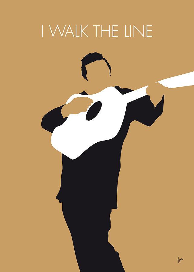 Johnny Digital Art - No010 My Johnny Cash Minimal Music Poster by Chungkong Art