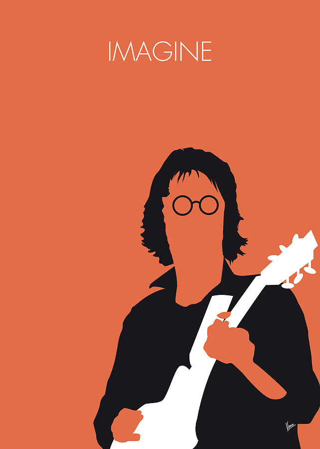 John Digital Art - No013 My John Lennon Minimal Music Poster by Chungkong Art