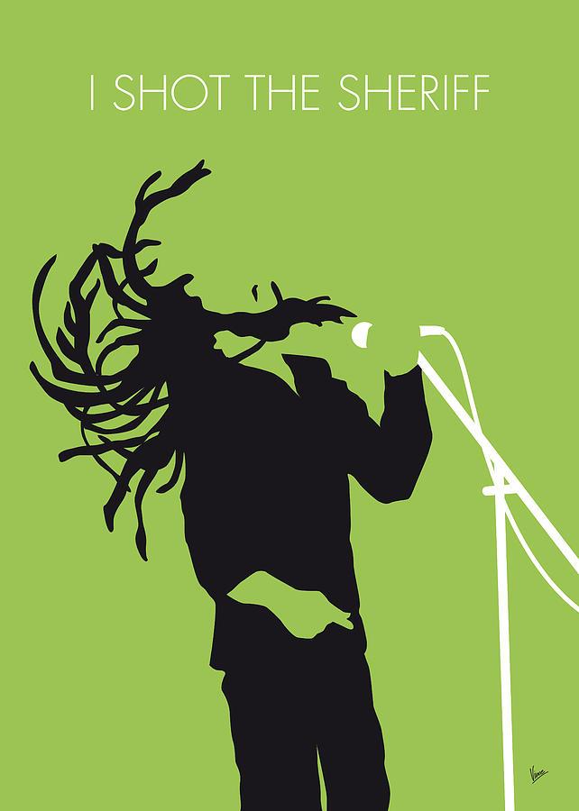 Bob Digital Art - No016 My Bob Marley Minimal Music Poster by Chungkong Art