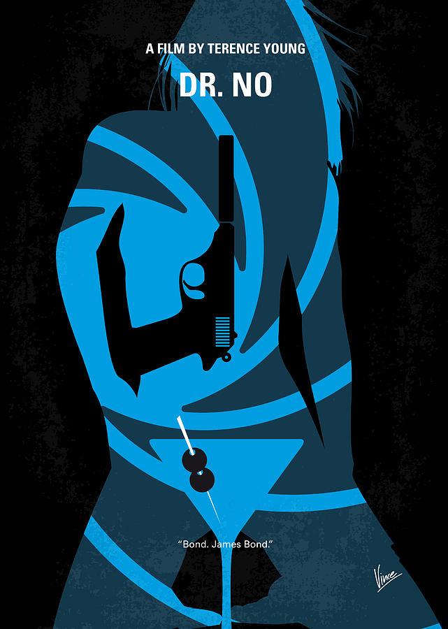 No Digital Art - No024 My Dr No James Bond Minimal Movie Poster by Chungkong Art