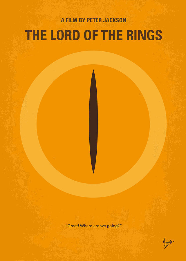 Lord Digital Art - No039 My Lord Of The Rings Minimal Movie Poster by Chungkong Art