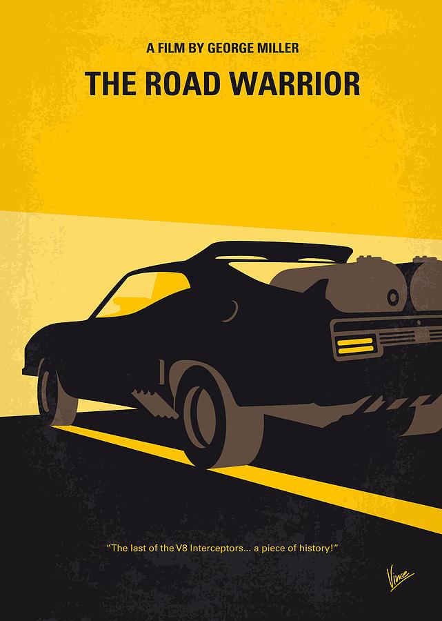 Road Warrior Digital Art - No051 My Mad Max 2 Road Warrior minimal movie poster by Chungkong Art