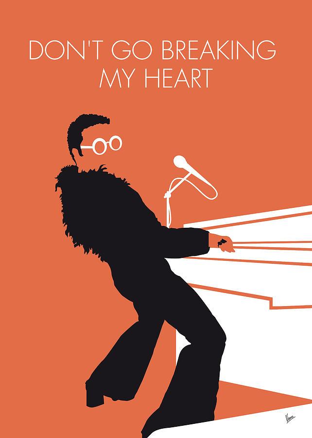 Elton Digital Art - No053 MY ELTON JOHN Minimal Music poster by Chungkong Art