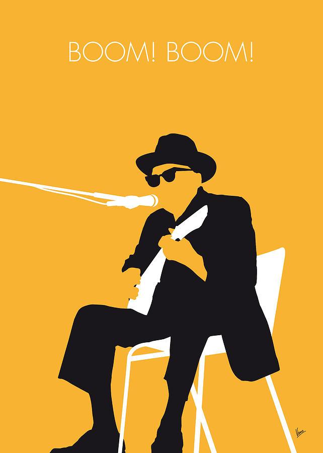 Johnny Digital Art - No054 My Johnny Lee Hooker Minimal Music Poster by Chungkong Art