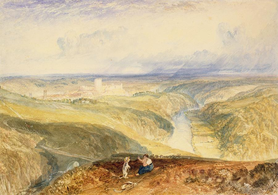 No.0572 Richmond, Yorkshire, C.1825-28 Painting by Joseph Mallord William Turner