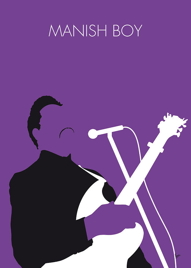 No061 my muddy waters minimal music poster digital art by for Music minimal art