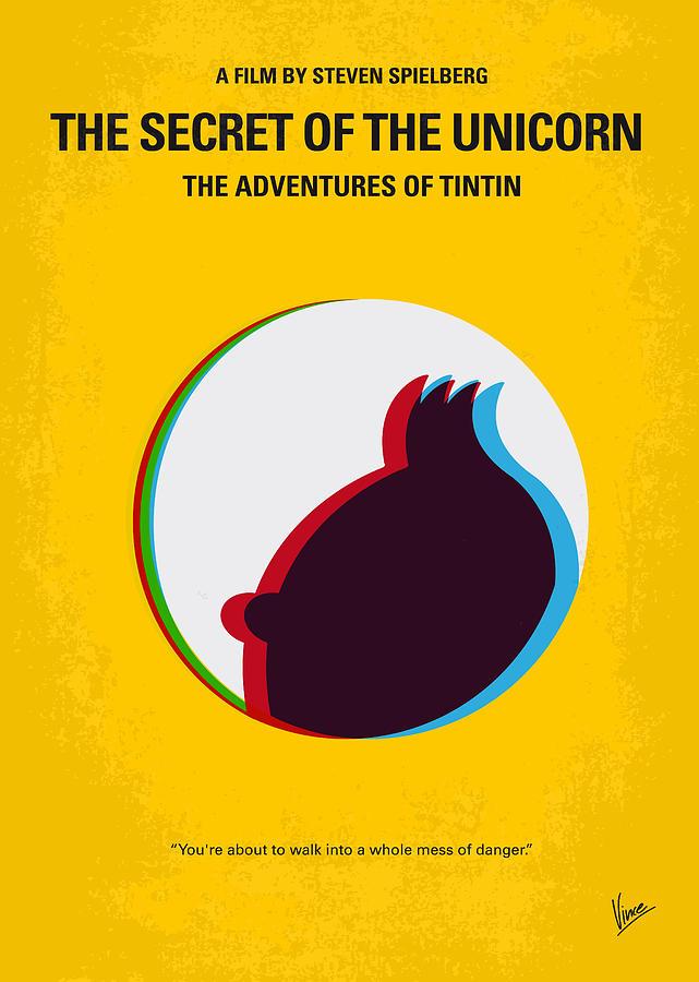 Tintin Digital Art - No096 My Tintin-3d Minimal Movie Poster by Chungkong Art