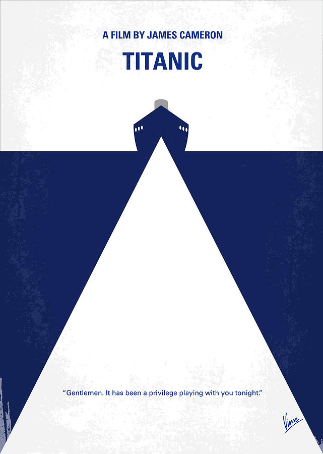 Titanic Digital Art - No100 My Titanic minimal movie poster by Chungkong Art